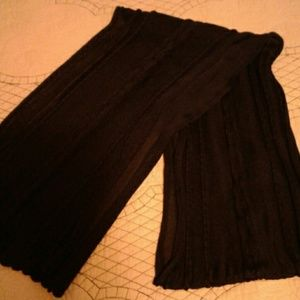Navy blue viscose scarf